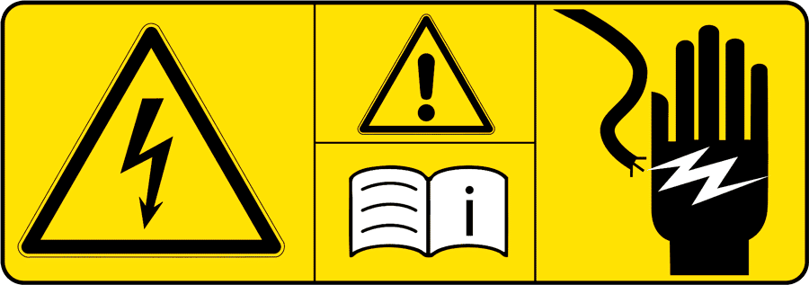 DGUV Vorschrift 3 - Warnhinweis